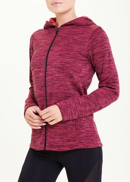 Souluxe Pink Zip Through Gym Sweatshirt