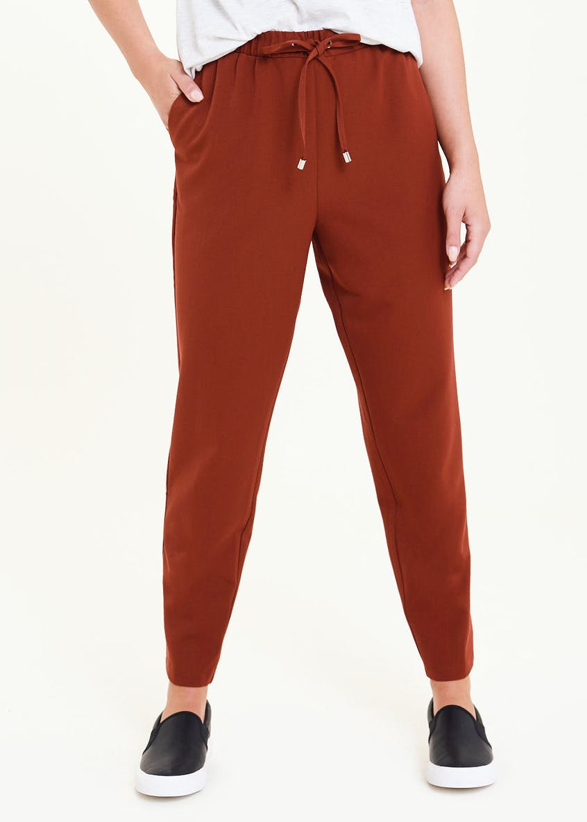 Drawstring Tapered Trousers