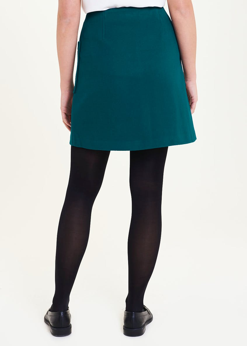 Wool Look A-Line Skirt