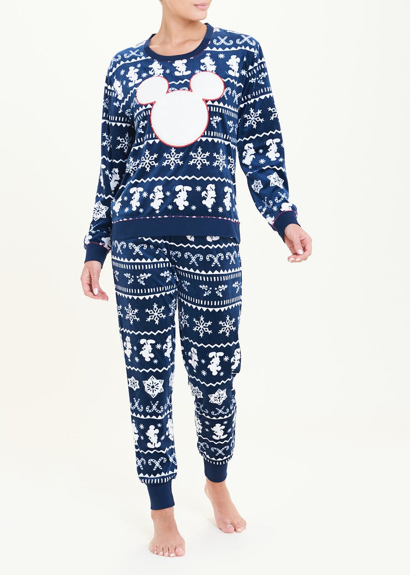 Minnie Mouse Fleece Fair Isle Pyjama Set