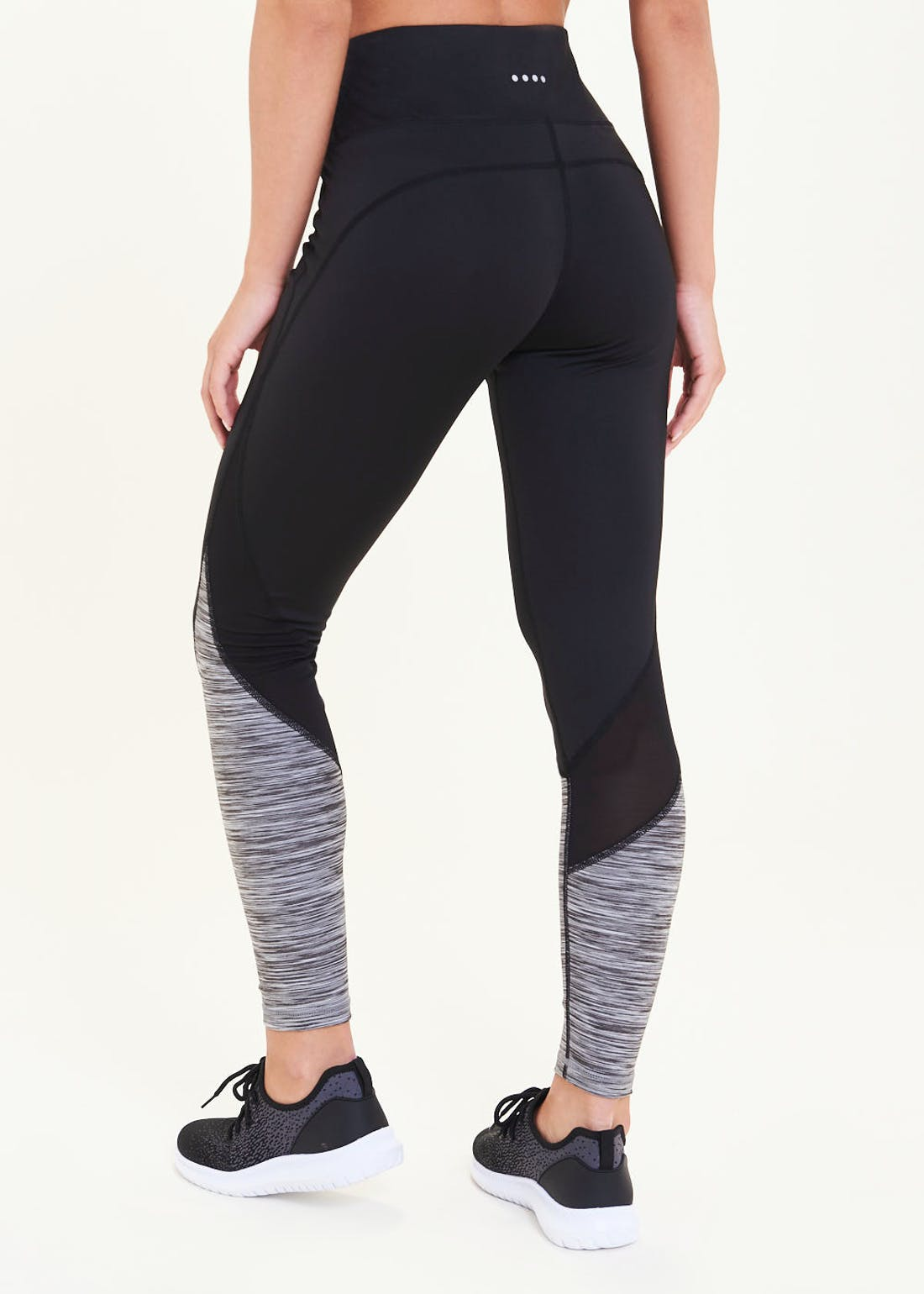 Souluxe Black Space Dye Panel Gym Leggings
