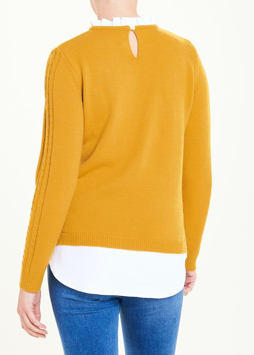 Frill 2 in 1 Shirt Jumper