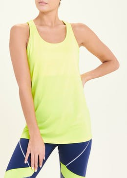 Souluxe Neon Yellow Racer Back Swing Gym Vest