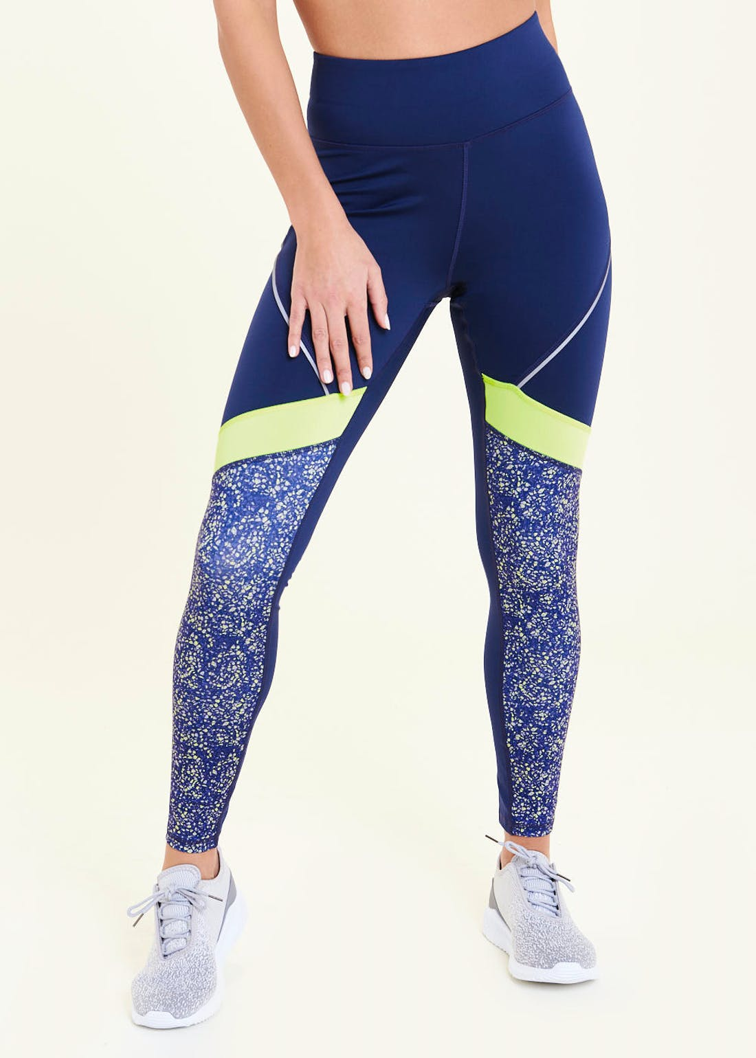Souluxe Navy Neon Speckle Gym Leggings