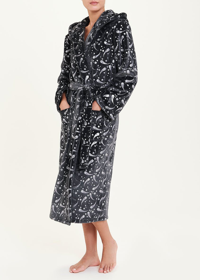 Foil Star Print Dressing Gown