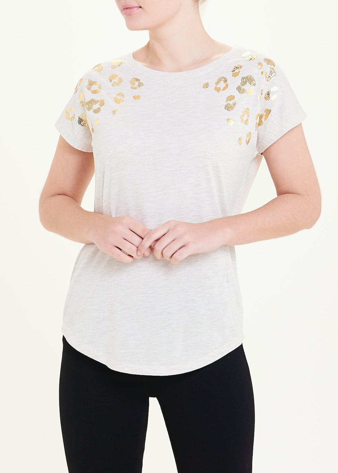 Metallic Animal Print T-Shirt