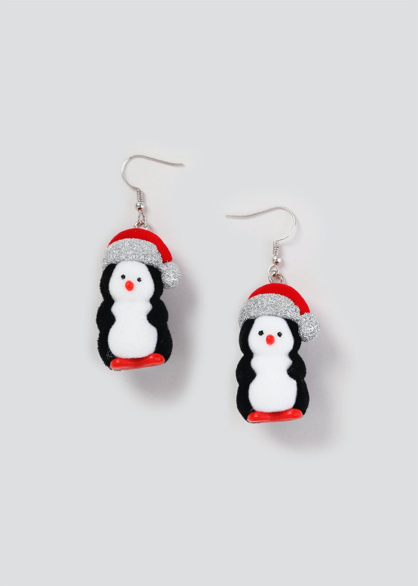 Christmas 3D Penguin Earrings
