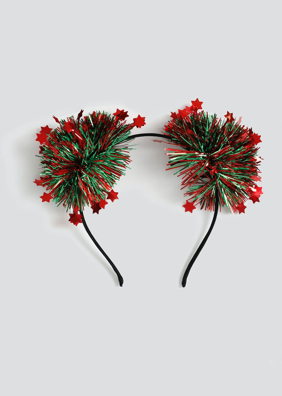 Christmas Tinsel Pom Headband