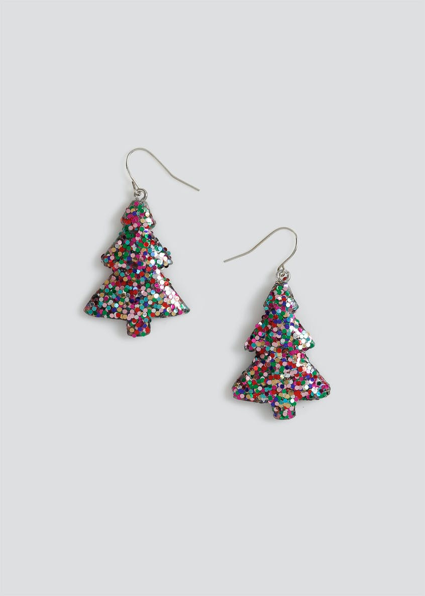 Xmas Sequin Tree Earrings.