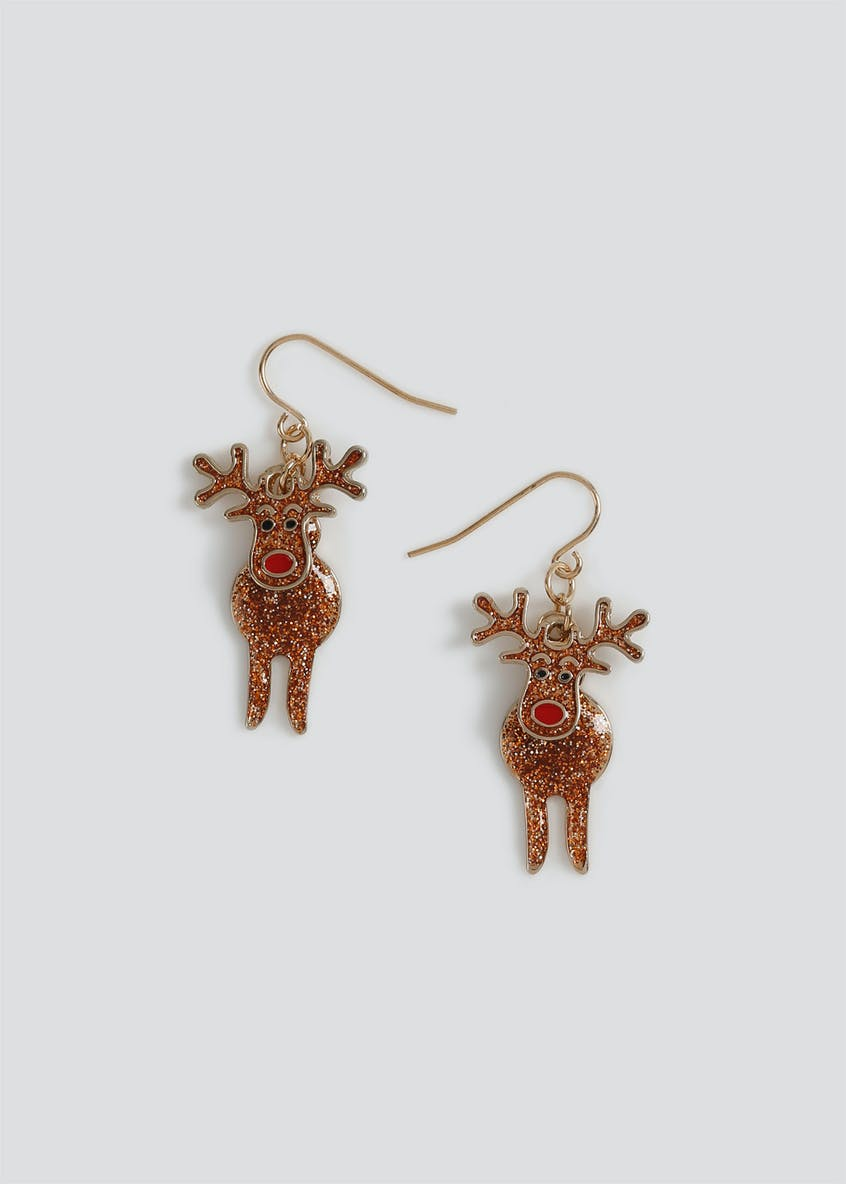 Christmas Articulated Reindeer Earrings