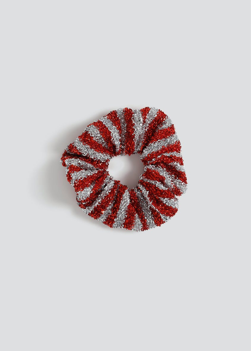Christmas Tinsel Stripe Scrunchie