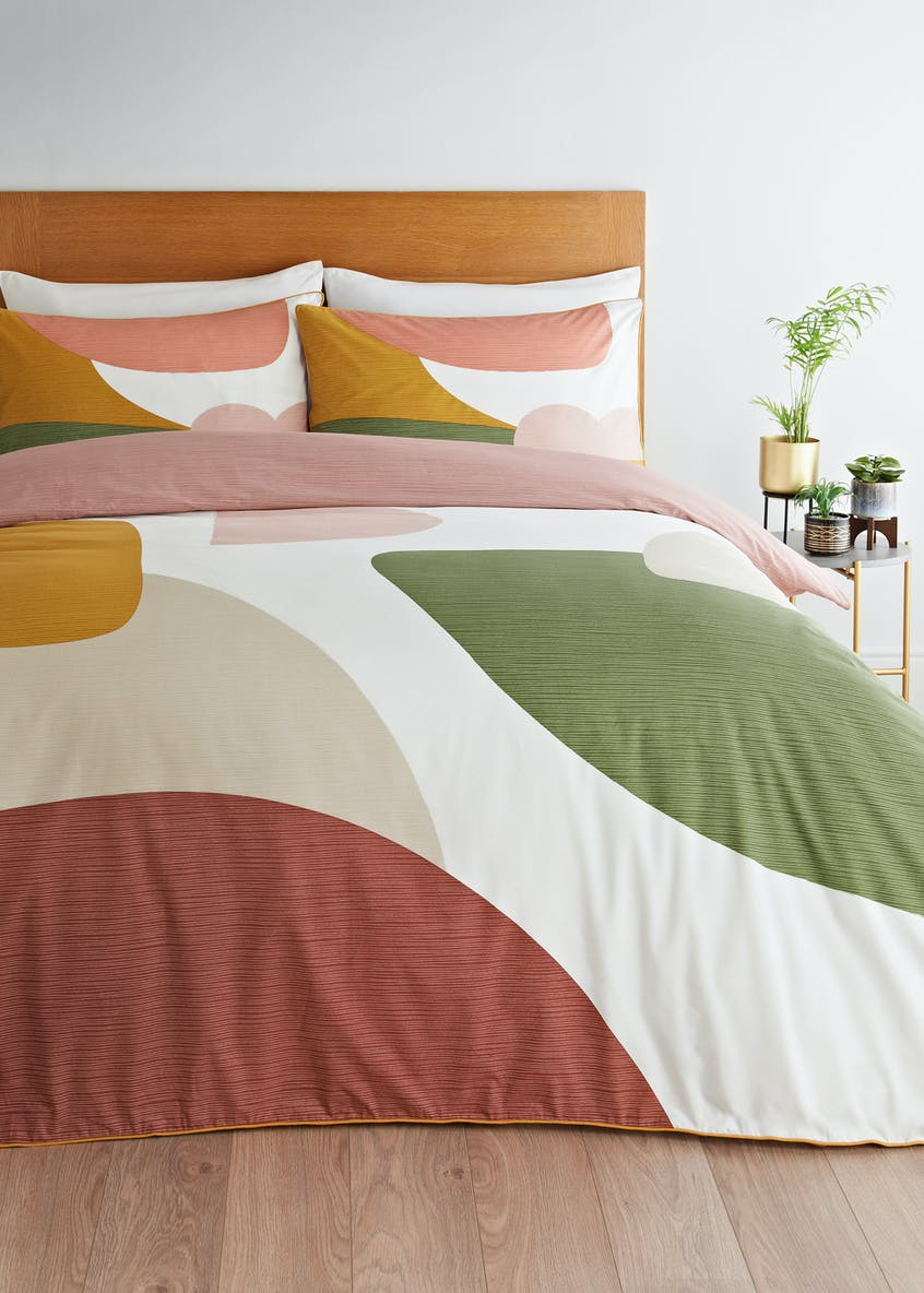 Reversible Colour Block Duvet Cover