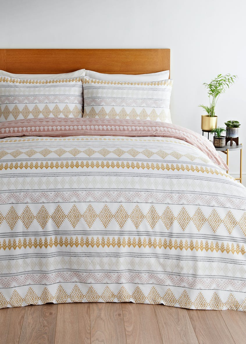 Reversible Aztec Stripe Duvet Cover