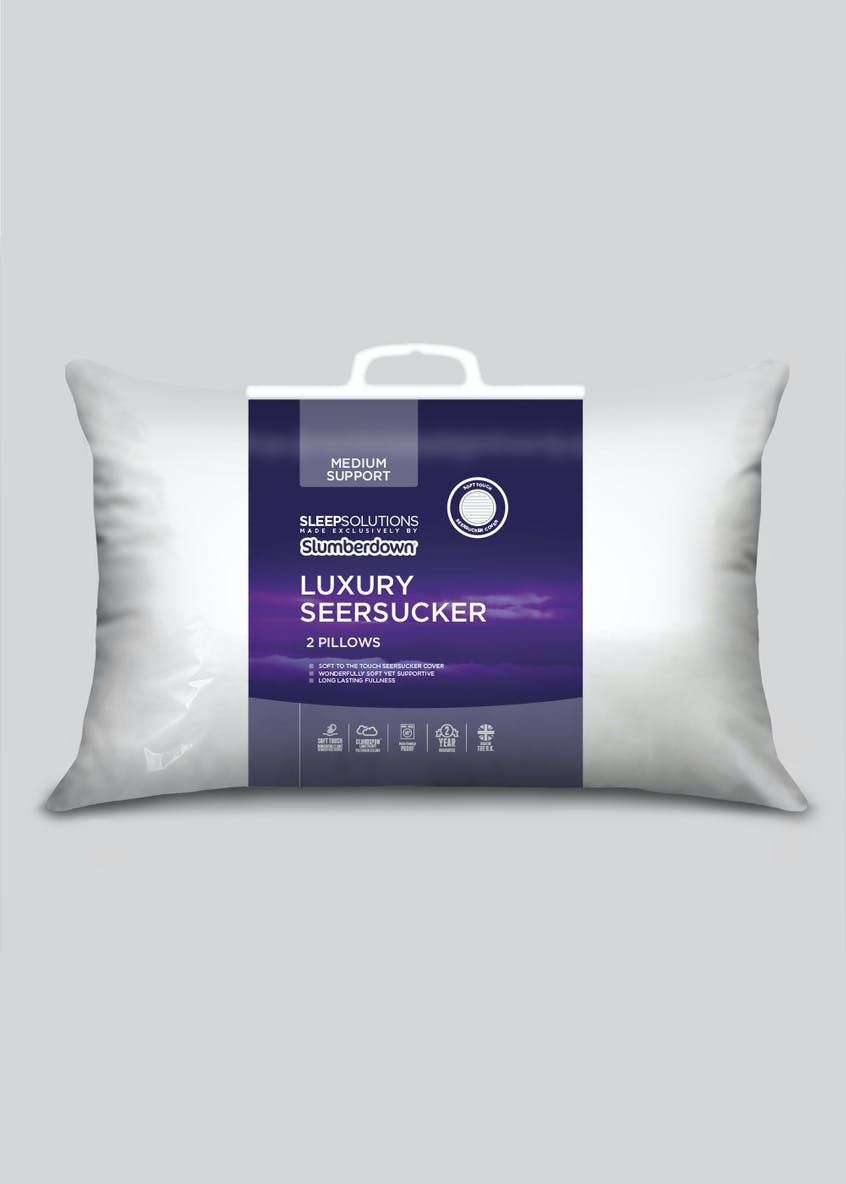 Slumberdown Luxury Seersucker Pillow Pair