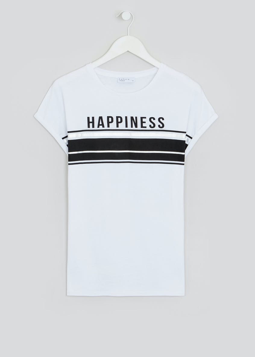 Happiness Slogan T-Shirt