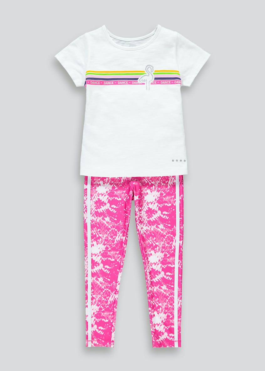 Girls Souluxe Printed Sports Top & Leggings Set (4-13yrs)