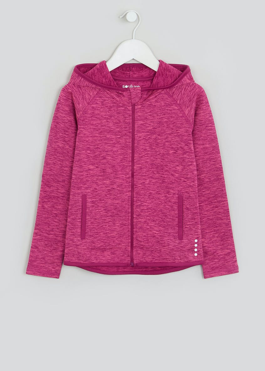 Souluxe Girls Pink Space Dye Sports Hoodie (4-13yrs)