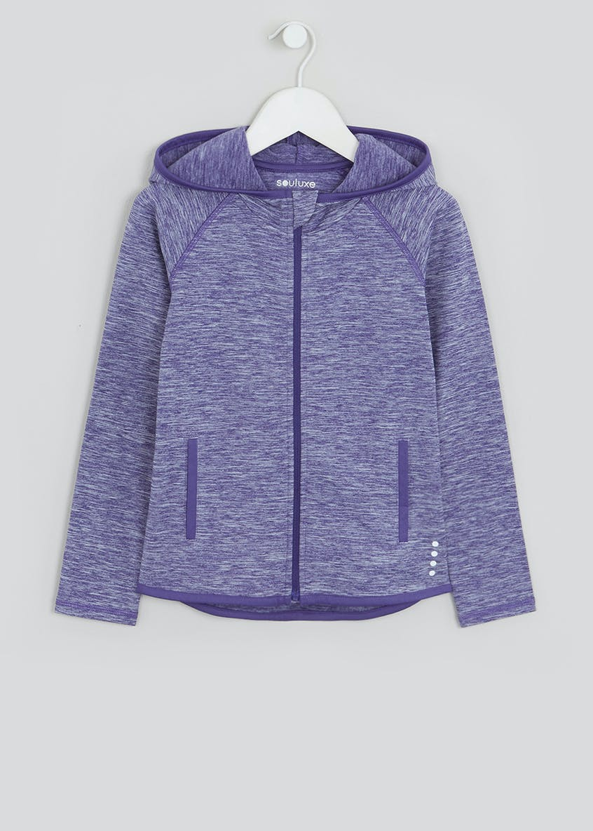 Girls Souluxe Purple Space Dye Sports Hoodie (4-13yrs)
