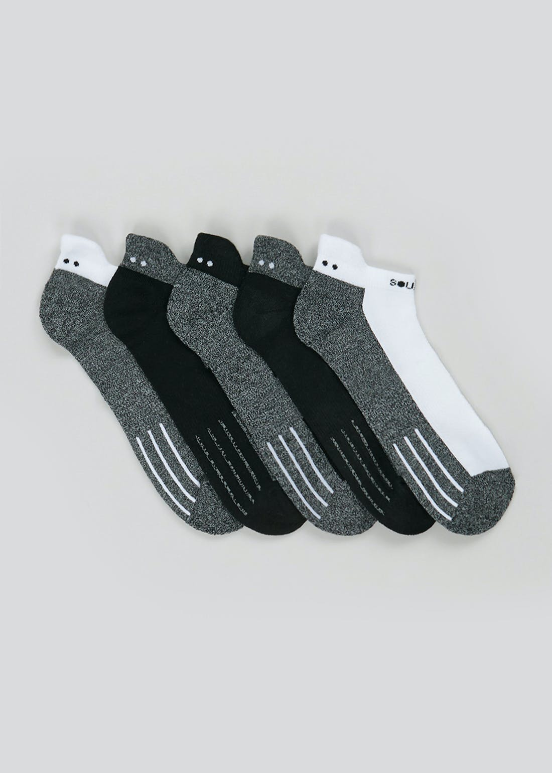 Souluxe 5 Pack Sports Socks