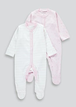 Unisex 2 Pack Baby Grows (Tiny Baby-23mths)