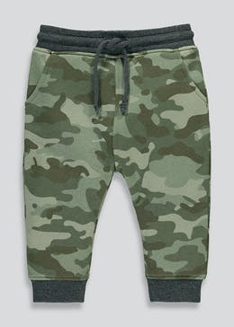 Boys Brushback Camo Print Jogging Bottoms (9mths-6yrs)