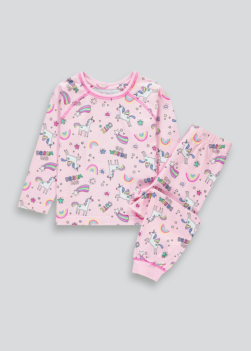 Girls Unicorn Rainbow Pyjamas (9mths-5yrs)