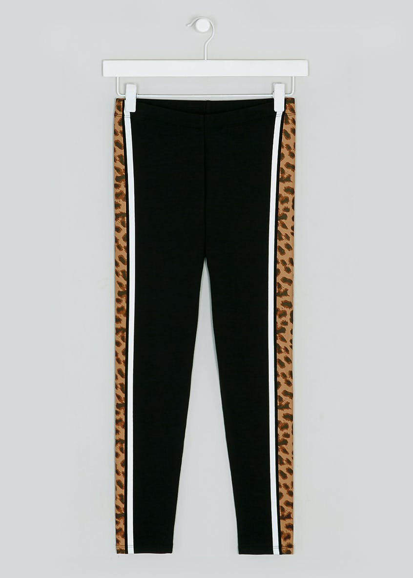 Girls Candy Couture Co-Ord Leopard Stripe Leggings (9-16yrs)