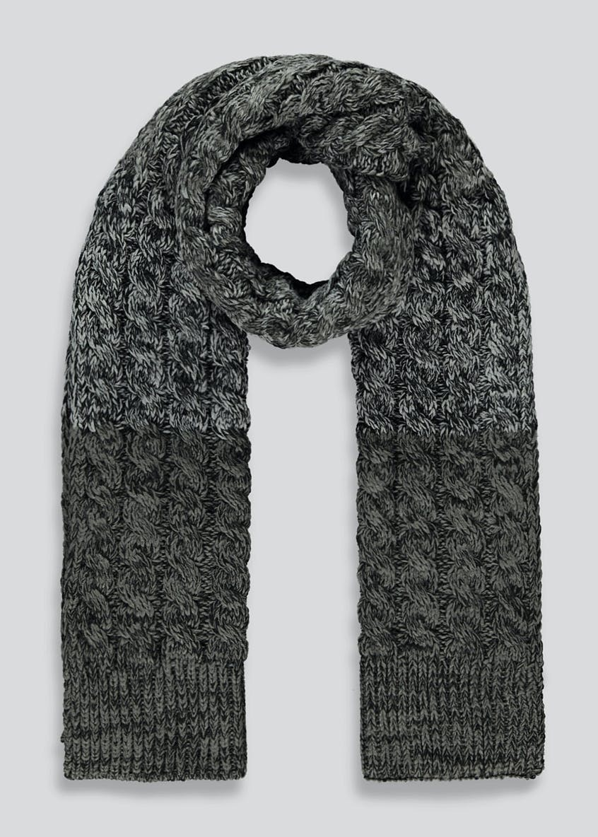 Twisted Cable Knit Scarf