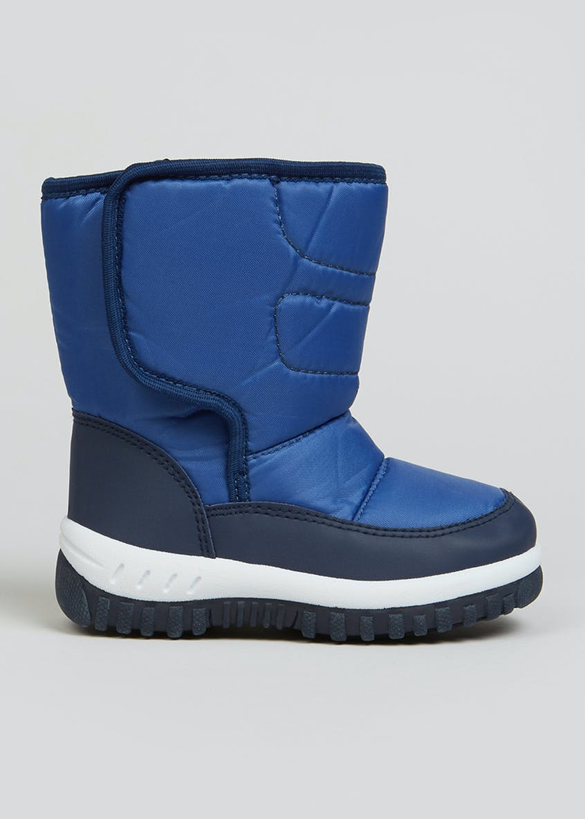 Boys Blue Snow Boots (Younger 4-12)