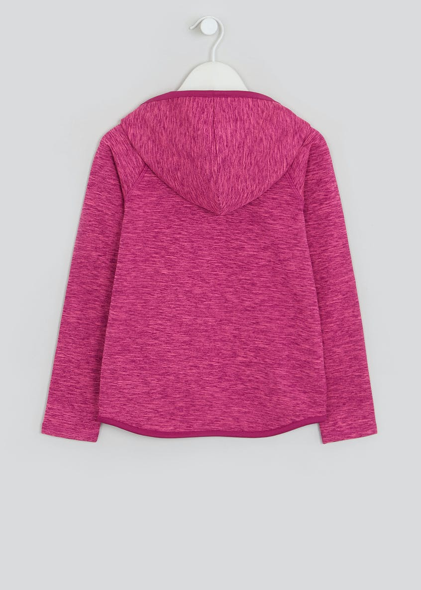 Girls Souluxe Pink Space Dye Sports Hoodie (4-13yrs)