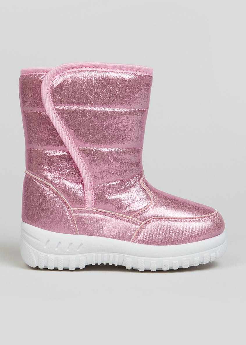 Girls Pink Snow Boots (Younger 4-12)