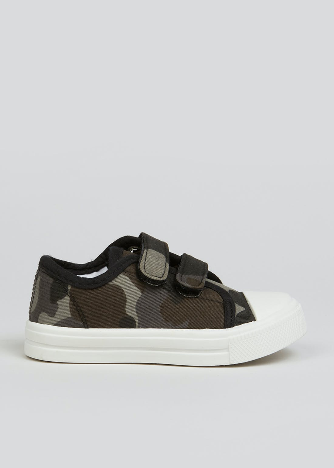 Boys Black Camo Canvas Trainers (Younger 4-12)