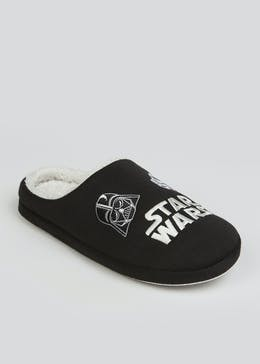 Black Star Wars Slippers