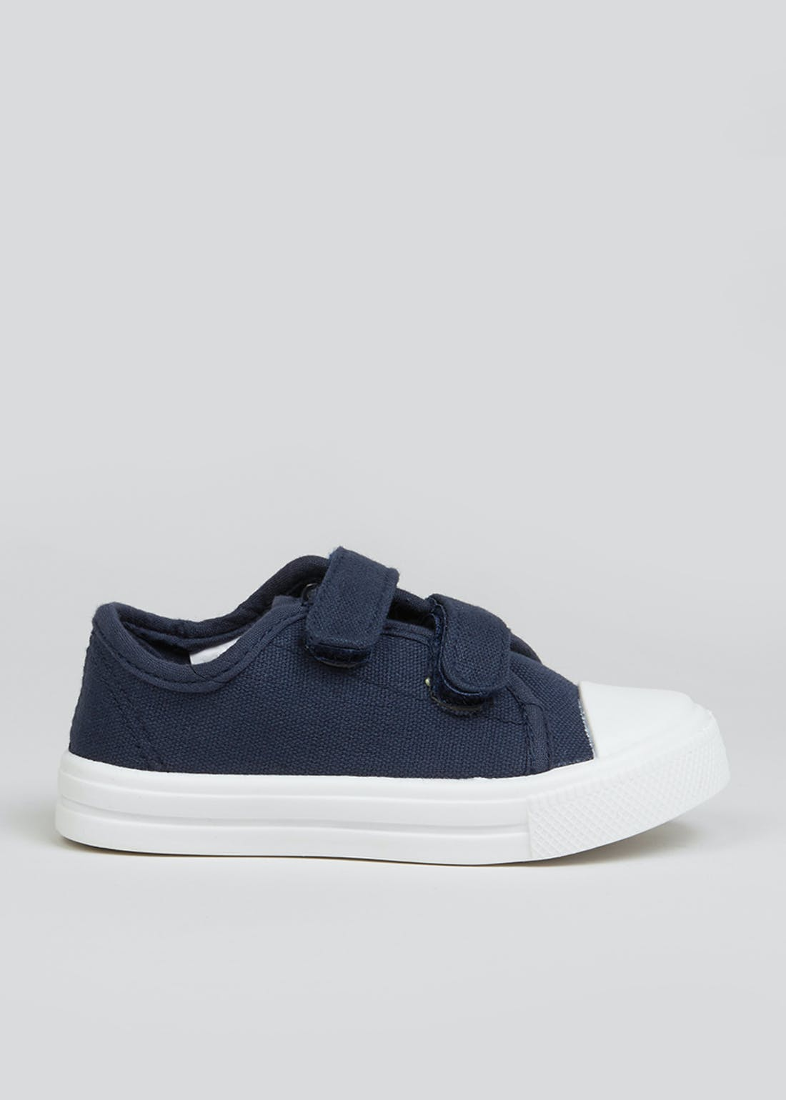 Boys Navy Canvas Strap Trainers (Younger 4-12)