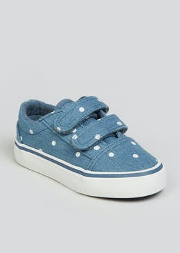 Girls Blue Denim Canvas Trainers (Younger 4-12)
