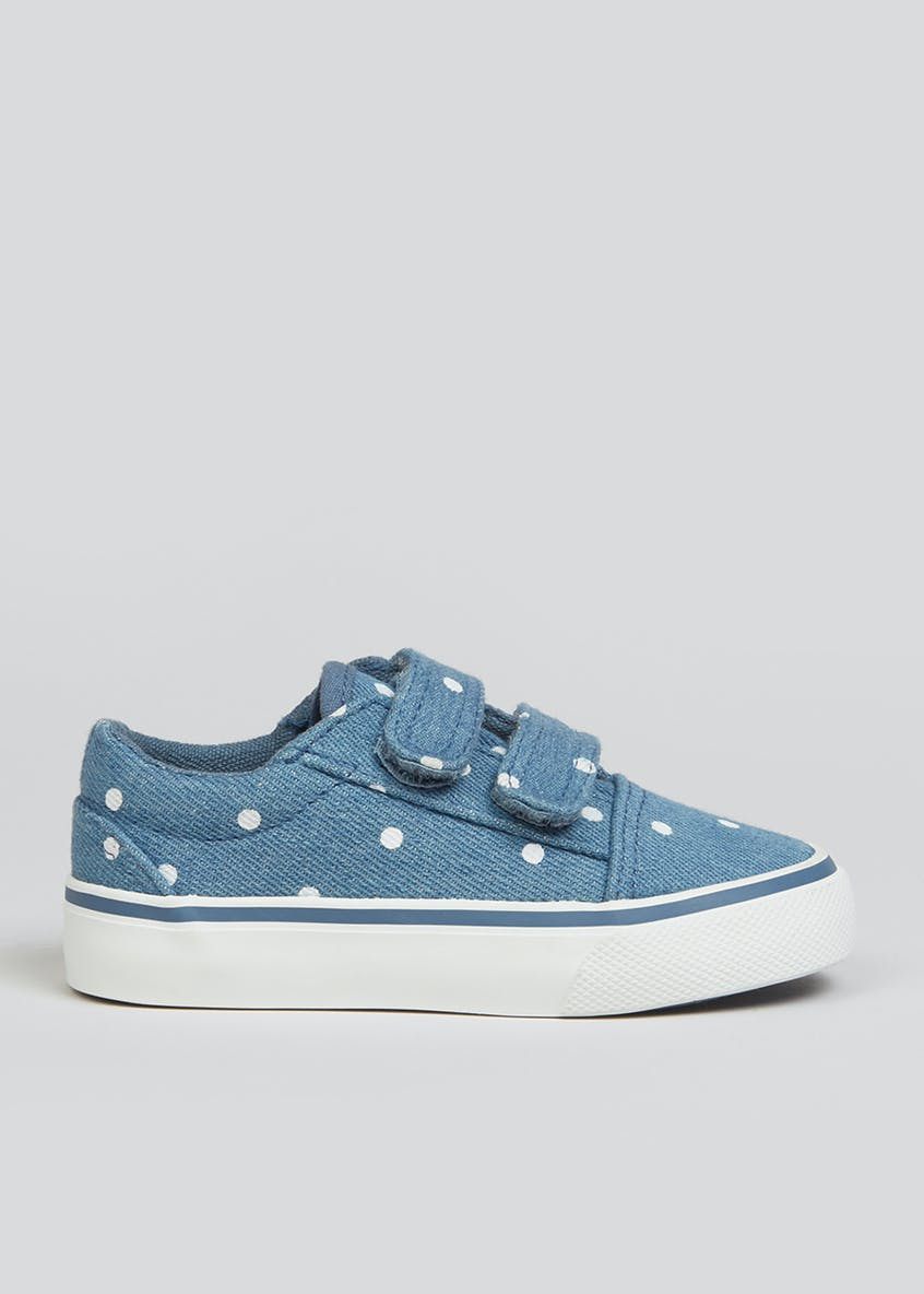 Girls Polka Dot Canvas Trainers (Younger 4-12)