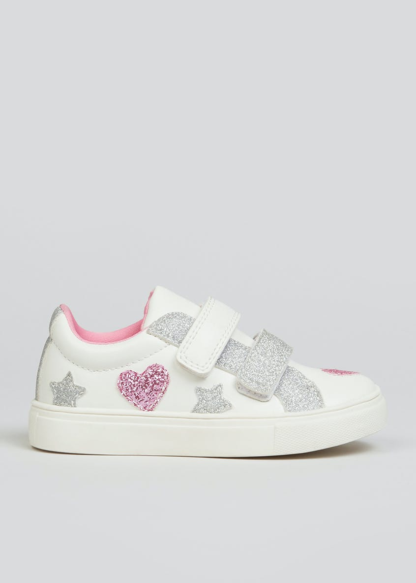 Girls Sparkle Heart Trainers (Younger 4-12)