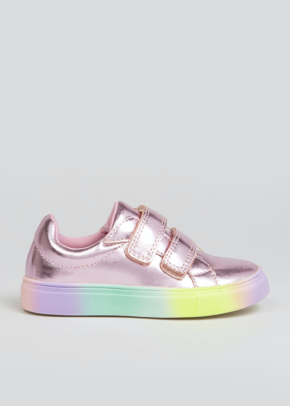 Girls Pink Metallic Trainers (Younger 4-12)