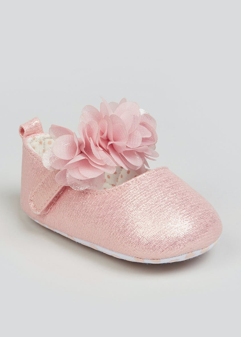 Girls Pink Soft Sole Ballet Shoes (Newborn-18mths)