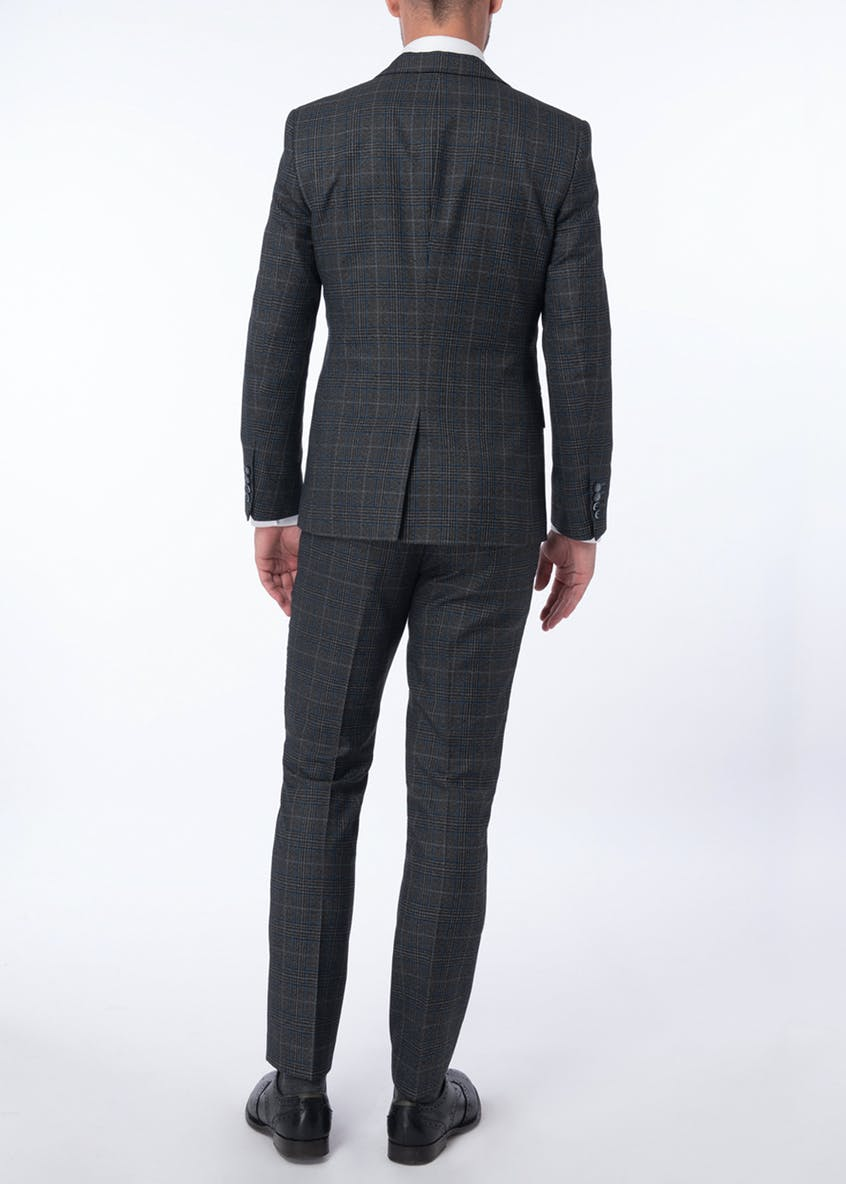 Broken Stitch Derwent Check Suit Trousers