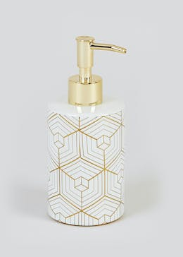 Metallic Geometric Soap Dispenser (17cm x 7.5cm)