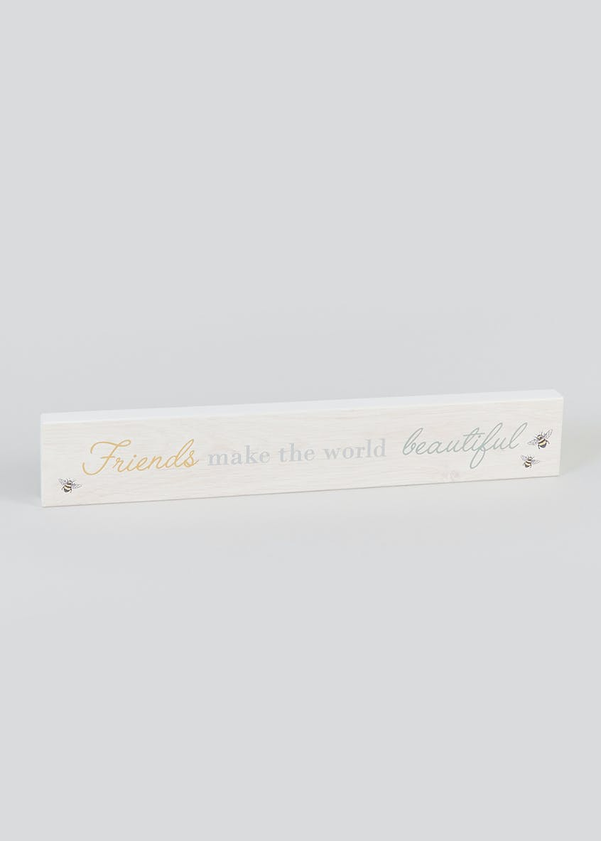Friendship Quote Plaque (60cm x 9.5cm)