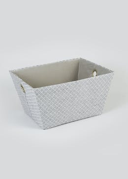 Quilted Fabric Storage Tray (43cm x 33cm x 23cm)