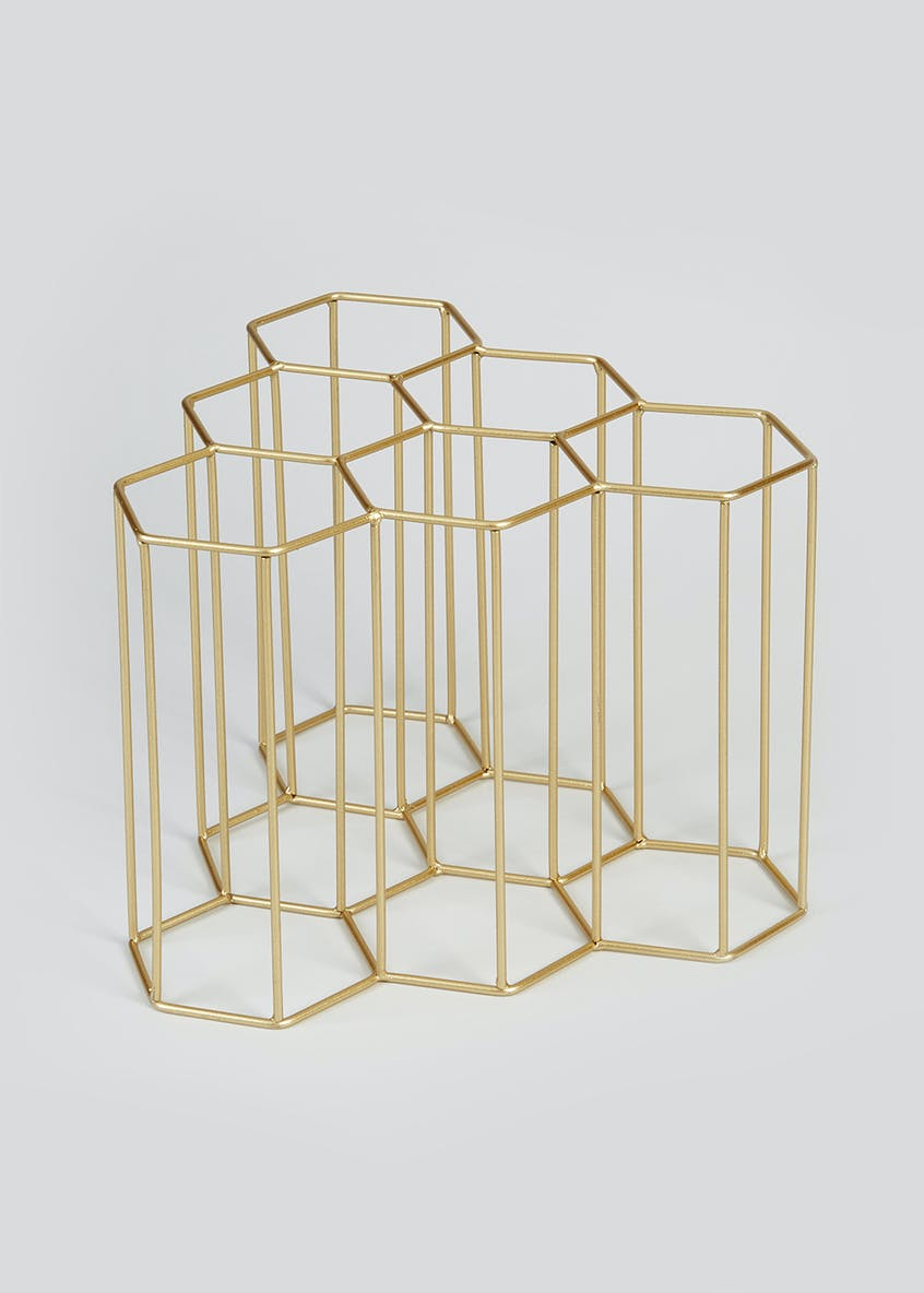 Geometric Wire Wine Rack (28.5cm x 28cm x 6cm)