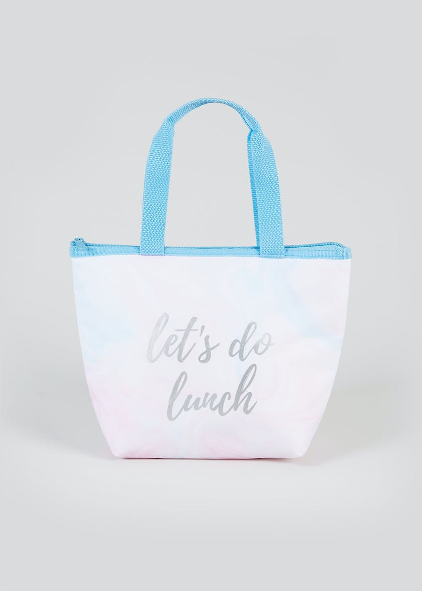Let's Do Lunch Marble Lunch Bag (30cm x 21cm x 10cm)