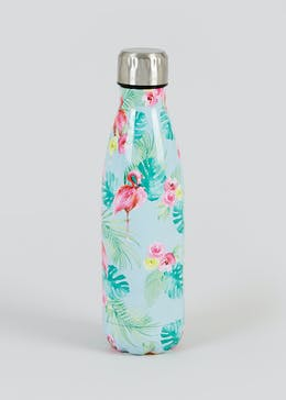 Tropical Print Metal Water Bottle (500ml)