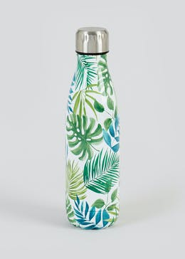 Leaf Print Metal Water Bottle (500ml)
