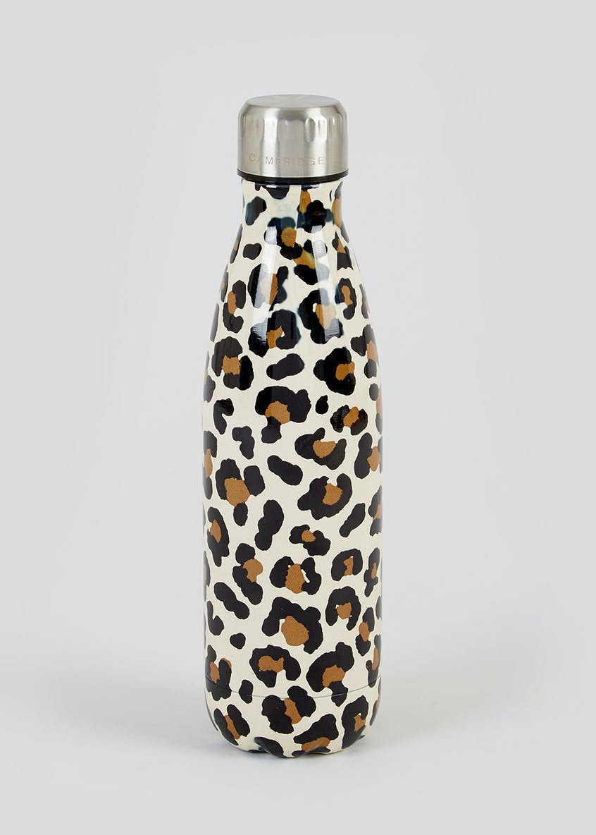 Leopard Print Metal Water Bottle (25cm x 7cm)
