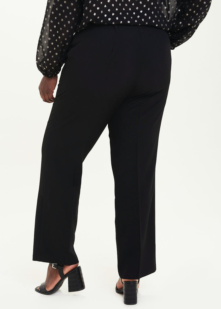 Papaya Curve Black Tailored Trousers