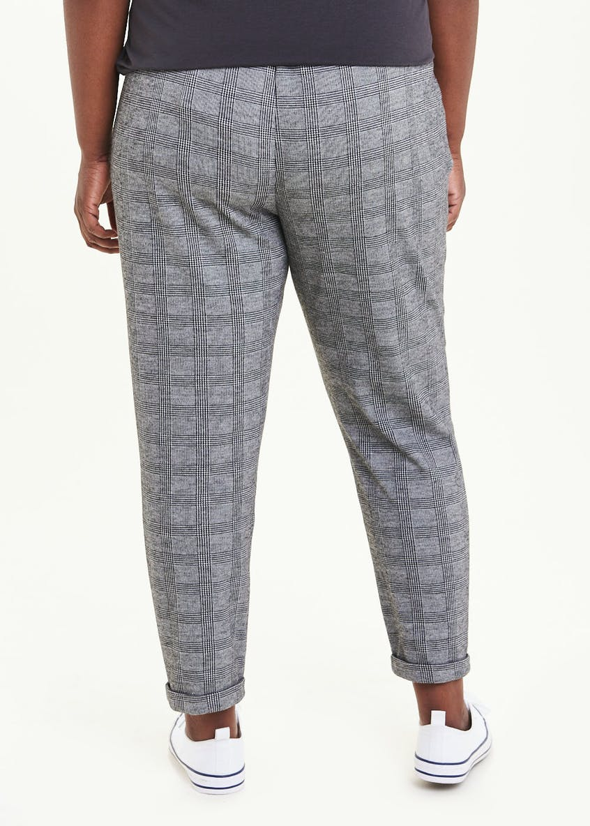 Papaya Curve Check Formal Jogging Bottoms